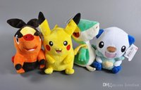 Wholesale Retail cm Poke Plush Toy Pikachu Oshawott Snivy Tepig Cartoon Stuffed Collectibles Dolls Kids Toys For Christmas Gifts Free Ship