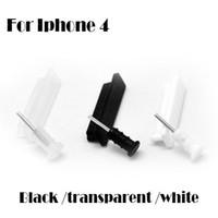 Cheap Wholesale-3.5mm Headset Earphone Jack Plug + Charger USB Dock Anti Dust Plug Cap Cover for Apple iPhone 4 4S 2000set