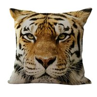 Wholesale High Quality Fashion D Tiger Animal Linen Home Use Throw Pillow Case