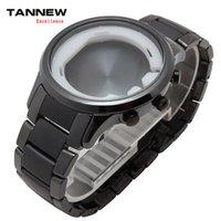 Al por mayor-Blanco / negro de cerámica pulsera de reloj de pulsera de concha acústica corresponde flexión de la correa del reloj AR1451 de los hombres Accesorios 24mm