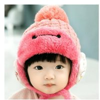 Wholesale 2016 new arrival Baby warm winter hat plus velvet hat baby hat and children s hooded cap months