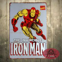 Wholesale Iron Man Marvel comic Retro home deocr x cm Rustic Metal Tin Sign Man cave