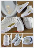 venda por atacado men shoes footwear-Hot vender OVO Retro XII 12 basquete sapatos para homens atléticos treinador desportivo calçados 12s preto sapatilha whtie