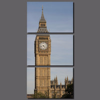big clock picture - Modern Clock Tower London Building Big Ben decoration Great Bell canvas painting living room wall Art home decor unframed