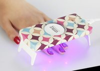 Wholesale Home Use Mini Manicure Nail dryer UV lamp Foldable Design W LED Nail Lamp Timer S s s USD power Ultra thin design DHL