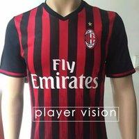 Wholesale New Player Vision AC Milan Soccer Jersey Home Red Jerseys BERTOLACCI BONAVENTURA HONDA Top Quality AC Milan Football Shirts