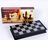 Wholesale International chess folding portable learning chess game puzzle desktop