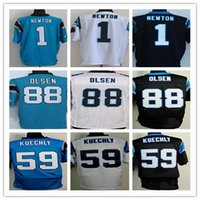 american cams - 2016 Elite Mens American Panthers Rugby Jerseys Luke Kuechly Cam Newton Greg Olsen Stitched Jerseys Blue Black White Drop Shipping
