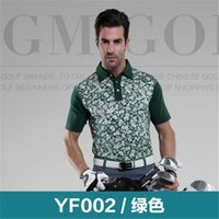 Wholesale PGM Summer Golf T Shirts Men Short Sleeve Polo Shirts Sunscreen Breathable Golf Tops Quick Dry Golf Sportswear T Shirts