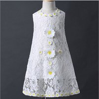 baby girl costumes boutique - 3 Y Flowers Princess Party Dresses White Girl Lace Dress Fashion Boutique Clothing Cute Baby Girl Costumes ZY