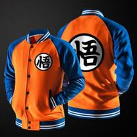anime button - New Japanese Anime Dragon Ball Goku Varsity Jacket Autumn Casual Sweatshirt Hoodie Coat Jacket Brand Baseball Jacket
