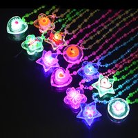 Wholesale LED necklace Mix Styles light up Necklace toys for children novelty flashing toys halloween party festival gifts
