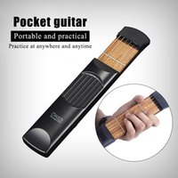 beginners acoustic guitars - Portable Pocket Acoustic Guitar Practice Tool Gadget String Fret Model for Beginner I1449