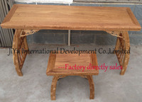 chinese furniture - Home child writing desk piano table with low stool chinese antique design luxury African Red sandalwood wood desk