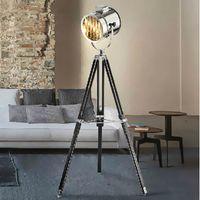 spotlight floor lamp - Modern Spotlight Marine Signal Tripod Floor Lamp for living room Abajur Photography Light Projector Standing Lamps searchlight