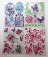 big lots scrapbooking - New arrivals big delicate beautiful clear rubber stamps with flower birds window butterfly designs scrapbooking seal sheets