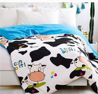 Wholesale cartoon cow cotton duvet cover