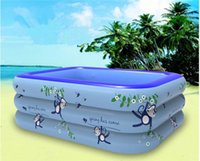 baby air mattress - 128 cmswimming pool with repair kit brand beach Inflatable Swimming Pool Toddler Baby swim pool piscine inflatable air mattress piscina