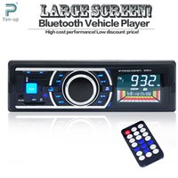 Wholesale car dvd V Bluetooth Car Radio Auto Stereo AUX IN FM MP3 Audio Player USB SD In Dash DIN Car Electronics Subwoofer With Remote