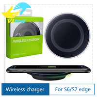 Wholesale 2016 Universal Qi Wireless Charger not fast Charging For Samsung Note Galaxy S6 s7 Edge mobile pad with package usb cable can with logo