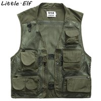 Wholesale Fall Colors Many pockets Outdoor Vest Men Photography Cameraman Mesh Vest for Hunting Director Reporter Vests SY108SY