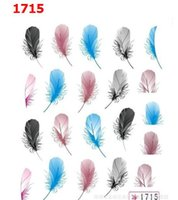 Wholesale 2016 HOT sale feather design water transfer nail sticker for finger beauty cheap price factory direct supply