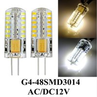 Wholesale 20pcs Per G4 SMD DC12V AC110V AC220V W w w w LED Crystal lamp light LED Bulb Chandelier