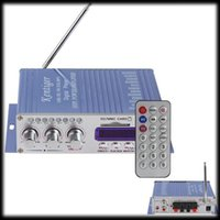 Wholesale by dhl or ems HY502 Car Amplifier MP3 FM USB Player W W Digital display power amplifier with Remote Control