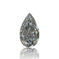 Wholesale Gray Diamond Ct GIA Certified Rare Natural Fancy Light Color Loose Pear Cut
