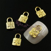Wholesale 100pcs Mix Lock Key Pendant Style Gold Silver Plated Alloy Metal Phone Craft Jewelry Findings Nail Art D DIY Design Decor
