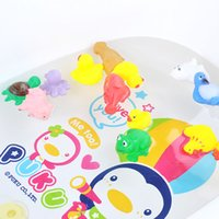 Wholesale 13Pcs Mixed Animals Bathing Soft Swimming duck Rubber Float Squeeze Sound Squeaky outdoor Toy For Baby