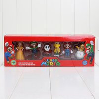 Wholesale 6pcs set Super Mario Bros Mario Luigi Daisy Koopa Troopa Lakitu Shy Guy Mini PVC Action Figure Toy with Reatil Box