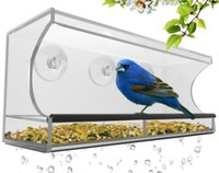 Wholesale Acrylic Hanging Bird Feeder Suction Cups Length Bird Feeder House Feeder Rack