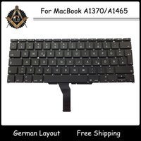 Wholesale Original New Deutsch German GR DE with Backlight for MacBook Air A1370 A1465 German Keyboard Year Tested