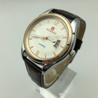 Wholesale Sell like hot cakes Men s classic business really belt quartz watch the new fashion watch waterproof calendar