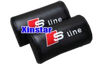 Wholesale a3 dvd Sline PU Leather Car neck pillow support for S4 A3 A4 A5 A6 A7 A8 S6 Q5 Q7 TT S5 A7