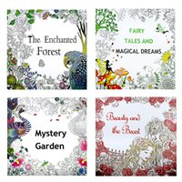 adult mystery books - Beauty and the Beast Fairy tales and magical dreams mystery Garden The enchanted forest coloring book kids adult Graffiti Painting DHL C864