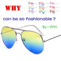 120PCS HHA804 OULAIOU grande del metal unisex del marco UV400 de las gafas de sol lente de la CA para las mujeres al aire libre Gafas Gafas de conducción vidrios de ciclo paseos