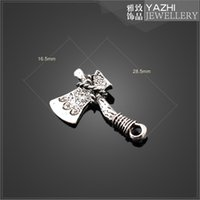 axe antique - Axe zinc alloy charm pendant Antique silver DIY jewelry accessories SH1589 DIY jewelry Findings Components