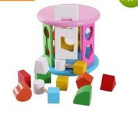 Wholesale Children s geometry roller paired baby puzzle wooden toy years old