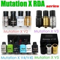 Haut Mutation X V2 V3 V4 V4S V5 S RDA atomiseur réutilisable MutationX Indulgence Vape Contrôle du débit d'air Bore Gouttes d'égout e cigs Vapor mods RBA DHL