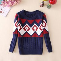 Wholesale Male Children Sweater New Small Boy Jacquard Sweater Bottoming Shirt Cotton Long sleeved Children Clothing