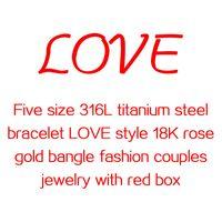 Wholesale 316L titanium steel bracelet K rose gold bangle
