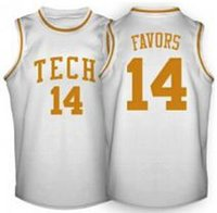 basketball favors - Derrick Favors Basketball Jersey White Custom Any Size Throwback Stitched Basketball Jersey