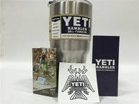 Wholesale 304 Stainless Steel oz Yeti Cups Cooler YETI Rambler Tumbler Cup Vehicle Beer Mug Double Wall Bilayer Vacuum Insulated