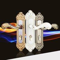 antique door locks - Full Set Continental Simple Fashion Antique Mechanical Interior Door Handle Lock