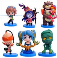 Wholesale LOL Q version piece set Garage Kits toys for kids League of Legends multicolor PVC cm