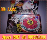 Wholesale BEYBLADE D TOP RAPIDITY METAL FUSION FIGHT MASTER BB116C HELL CROWN