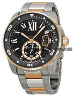 Wholesale Mens Luxury Professional limited Calibre De W7100054 Black dial Mechanical Mens Watch stainless steel color Date Watches