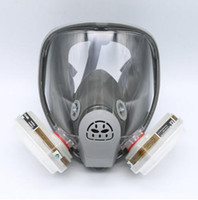 Cheap For 6800 Gas Mask Full Facepiece Respirator 7 PCS Suit Painting Spraying with 5N11 Filters and 6001CN Cartridge Grey